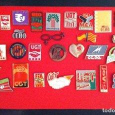Pins de colección: LOTE 28 PIN O PINS POLITICOS SINDICALES. Lote 194921373