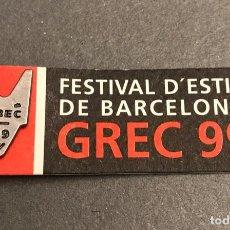 Pins de colección: PIN FESTIVAL DE TEATRO DE BARCELONA GREC 1999. Lote 194966520