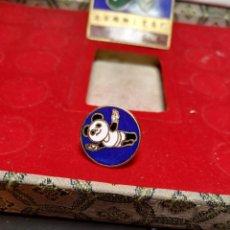 Pins de colección: PIN SALTO NATACIÓN BEIJING 1990 XI ASIAN GAMES BAÑADO ORO 24K PINS JUEGOS ASIÁTICOS CHINA. Lote 195029411