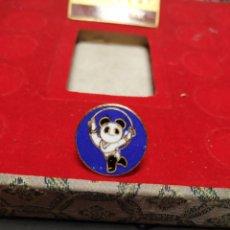 Pins de colección: PIN GIMNASIA ARO BEIJING 1990 XI ASIAN GAMES BAÑADO ORO 24K PINS JUEGOS ASIÁTICOS CHINA. Lote 195029580