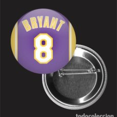 Pins de colección: CHAPA 32MM, KOBE BRYANT, 8, LOS ANGELES LAKERS, BALONCESTO, NBA. Lote 195064976