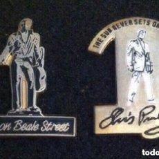 Pins de colección: LOTE 2 ANTIGUOS PIN O PINS ELVIS PRESLEY. Lote 195129166