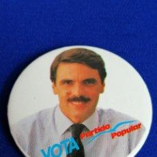 Pins de colección: CHAPA CAMPAÑA PARTIDO POPULAR AZNAR. Lote 195280100