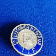 Pins de colección: INSIGNIA TELEFONICA ESPAÑA ITP (ANTIGUA DE ALFILER). Lote 195283082