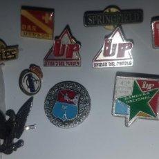 Pins de colección: LOTE DE 10 PINS VARIOS, UNO DE LOS BEATLES, 3 DE POLÍTICA, 2 DE BUCEO Y OTROS - MIRAR FOTOS - RAROS. Lote 195336280