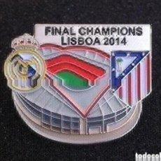 Pins de colección: PRECIOSO PIN FINAL CHAMPIONS LISBOA 2014. Lote 195337968