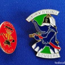 Pins de colección: LOTE PINS BOMBEROS DE VALENCIA. Lote 195338945