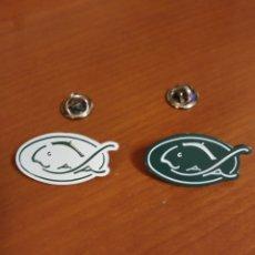 Pins de colección: PIN COMPAÑÍA PESCA EUSKADI (COFRADIA). Lote 195343520