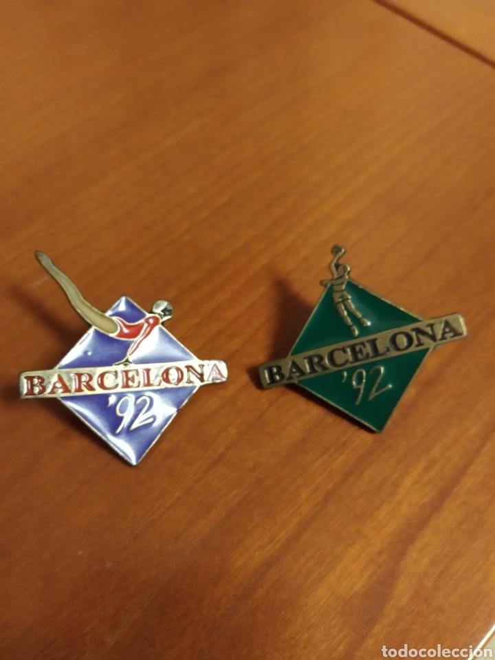 PIN BARCELONA 92 OLIMPIADAS BALONCESTO Y GIMNASIA (Coleccionismo - Pins)