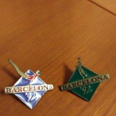 Pins de colección: PIN BARCELONA 92 OLIMPIADAS BALONCESTO Y GIMNASIA. Lote 195344045