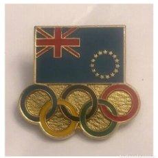 Pins de colección: PIN COMITE OLIMPICO COOK ISLANDS BARCELONA 1992. Lote 195411216