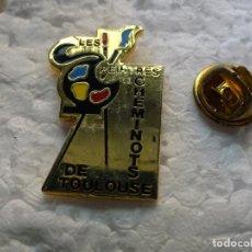 Pins de colección: PIN DE TRENES FERROCARRILES. TREN LOCOMOTORA FRANCIA. PINTURAS FERROVIARIOS TOULOUSE. Lote 195480152