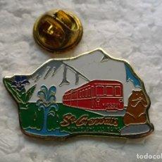 Pins de colección: PIN DE TRENES FERROCARRILES. TREN LOCOMOTORA FRANCIA. TRAMWAY MONTBLANC ST GERVAIS LES BAINS. Lote 195480240