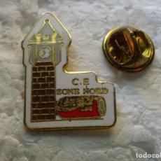 Pins de colección: PIN DE TRENES FERROCARRILES ? . ESTACIÓN C.E. ZONE NORD. LATA DE COCA COLA COKE. Lote 195481030