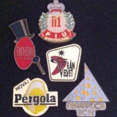 Pins de colección: LOTE 5 PIN O PINS ANTIGUAS DISCOTECAS (TOUCHDOWN CLUB-PIU-GRAN VELVET-NOVA PERGOLA Y FIBRA OPTICA). Lote 195530508