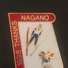Pins de colección: PIN SALTO ESQUI JUEGOS OLIMPICOS NAGANO 1998. Lote 195853185