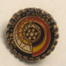 Pins de colección: PIN MOTO CLUB DE ANDORRA. Lote 196140671