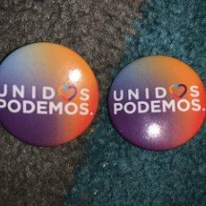 Pins de colección: LOTE 2 CHAPAS UNIDAS PODEMOS UNIDOS PODEMOS. Lote 196321026