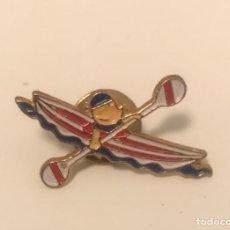 Pin's de collection: PIN COBI PIRAGÜISMO - MASCOTA JUEGOS OLIMPICOS BARCELONA 1992. Lote 198395653