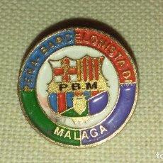 Pin's de collection: PIN PEÑA BARCELONISTA MALAGA FCB FC BARCELONA BARÇA. Lote 198486501
