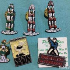 Pins de colección: 6 PINS DE CASTELLERS DE TARRAGONA,TERRASSA,SP. SP. Y SANTS.. Lote 213393775