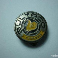Pins de colección: PIN DE OJAL ESMALTADO. BULTACO CEMOTO. Lote 199416860