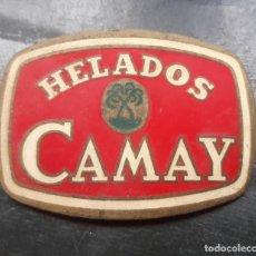 Pins de colección: INSIGNIA O CHAPA DE IDENTIFICACION DE HELADOS CAMY ESMALTADA DE 5,5 X 4,5. Lote 201668281