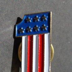 Pins de colección: PIN - NÚMERO UNO - COLORES DE LA BANDERA DE LOS USA - ESTADOS UNIDOS. Lote 142228482