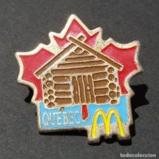 Pins de colección: PIN - MCDONALDS - PUBLICIDAD DE ESTABLECIMIENTO DE COMIDA RÁPIDA - QUEBEC - CANADÁ. Lote 142989550