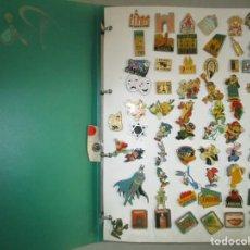 Pins de colección: FABULOSA COLECCION DE 190 PINS / ALBUM INCLUIDO / MUY BUEN ESTADO. Lote 203332721