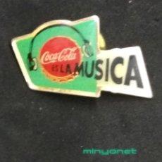 Pins de colección: PIN COCA-COLA ES LA MÚSICA. Lote 206190505
