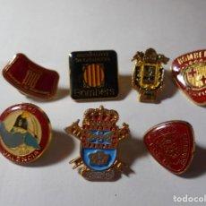 Pins de colección: MAGNIFICOS 7 PINS ANTIGUOS DE BOMBEROS. Lote 207790866