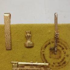 Pins de colección: PASADORES DE CORBATA I PINS, TEMA FERROVIARIO. Lote 208186751