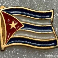 Pins de coleção: PIN EXPO 92 DE SEVILLA PABELLON DE CUBA BANDERA. Lote 212555550
