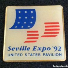Pins de colección: PIN EXPO 92 UNITED STATES PAVILION. Lote 212720847