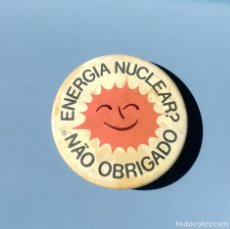 Pins de colección: CHAPA POLITICA ECOLOGISTA. NUCLEARES NO GRACIAS. IDIOMA PORTUGUES (PINS POLITICOS, CHAPAS POLITICAS). Lote 214233682