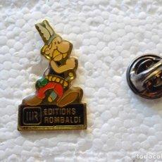 Pins de colección: PIN DE DIBUJOS ANIMADOS COMICS TEBEOS. ASTERIX Y OBÉLIX. EDITIONS ROMBALDI. Lote 262853315