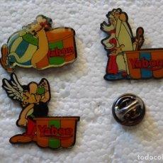 Pins de colección: 3 PINS DE DIBUJOS ANIMADOS COMICS TEBEOS. ASTERIX Y OBÉLIX. FLANES YABON. Lote 262853320