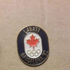 Pin's de collection: PIN LABATT BARCELONA 92. Lote 215199713