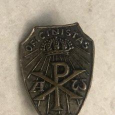 Pin's de collection: ANTIGA INSIGNIA AGUJA PIN MOTIVOS RELIGIOSOS VATICANO - OFICINISTAS. Lote 217142246
