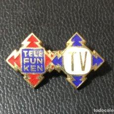 Pins de colección: PIN . INSIGNIA MUY ANTIGUO DE PUBLICIDAD DE TELEFUNKEN TELEVISIÓN .. Lote 218482435
