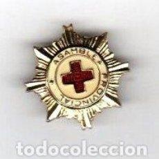 Pins de colección: ANTIGUA INSIGNIA DE SOLAPA ASAMBLEA PROVINCIAL CRUZ ROJA. AÑOS 40. Lote 218491051