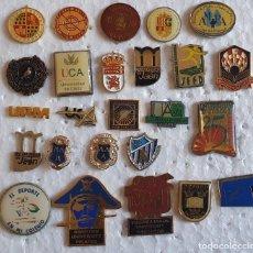 Pins de colección: AMG-920 LOTE DE PINS COLEGIALES Y UNIVERSITARIOS, SIN LOS CIERRES. Lote 221361457