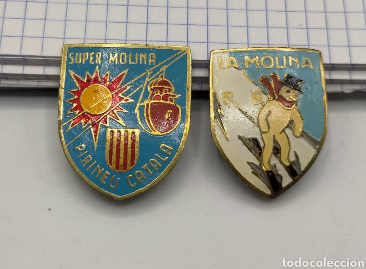 PIN DE AGUJA ESMALTADOS LA MOLINA. (Coleccionismo - Pins)