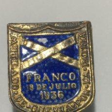 Pins de colección: ANTIGUO PIN SOLAPA,ALFILER,MILITAR,MUTILADO DE GUERRA POR LA PATRIA,FRANCO 1936. ESMALTADO. Lote 221693068