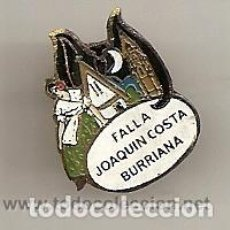Pins de colección: FALLAS DE VALENCIA. BURRIANA: ANTIGUA INSIGNIA ESMALTADA DE LA FALLA JOAQUÍN COSTA. Lote 221963743