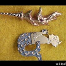 Pins de colección: 1968 CA LOTE 2 PIN INSIGNIAS GRANDES FALLAS JUNTA CENTRAL FALLERA VALENCIA. Lote 222295497