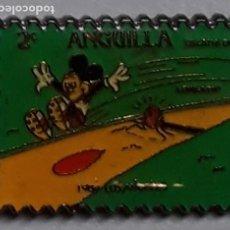 Pins de colección: PIN - MICKEY SELLO 2 ª ANGUILLA - 1000 METRES - LOS ANGELES 1984 DECATHLON - DIBUJOS DISNEY - META. Lote 222716927