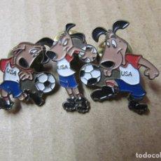Pins de colección: LOTE 3 PINS OFICIALES MUNDIAL USA AÑOS 90S. Lote 222721212