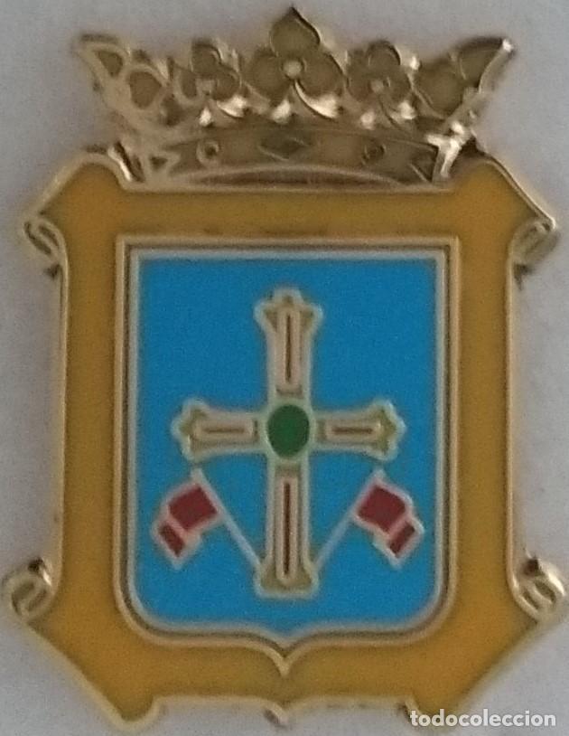 PIN ESCUDO HERALDICO MUNICIPAL AYUNTAMIENTO DE GOZON ASTURIAS (Coleccionismo - Pins)